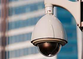 imagem de camera de segurança