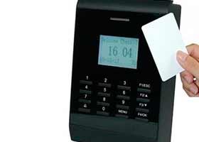 Imagem de ponto de controle de acesso por cartão magnético